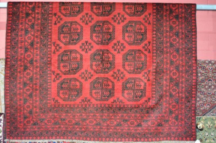 Afghan Turkmen pure wool hand made rug,