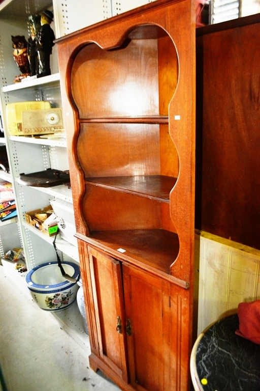 Queensland Maple Corner Cabinet 184cm H X 73cm W