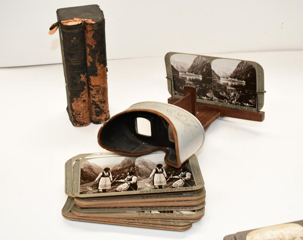 Antique Stereoscope & cards
