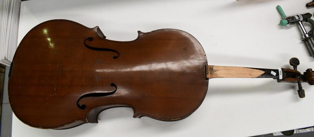 Vintage Boosey & Hawkes cello, 130cm H