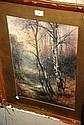 Thomas Tayler Ireland, watercolour, trees in a
