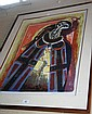 Leonard French, coloured screenprint,