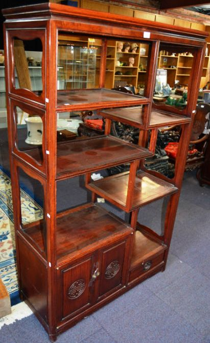 Good Hongmu Blackwood Multi Tier Display Shelf