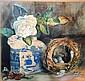 F.E. Foster watercolour, still life; 'bird's nest