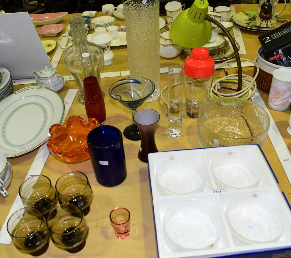 Collection of retro glassware incl
