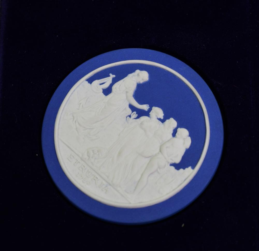 Wedgwood jasper Sydney Cove medallion, 1988 dia 7.20 cm. (2.83 in.)