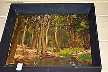 Cedric Savage oil on canvas laid on board,