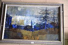 Susan Wright oil on board, Neutral Bay, signed and