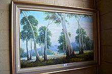 Thomas Cole oil on canvas - Cows grazing signed,
