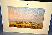 2x pictures: a pastel by Leslie Ford, showing a