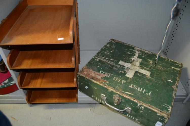 Vintage first aid box and letter tray for Furniture 5 letters