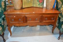 French style cherrywood low buffet