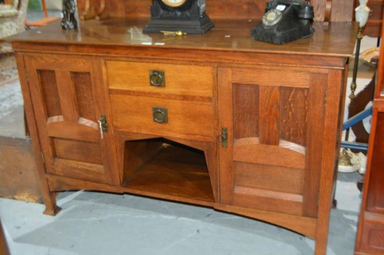 Arts Crafts Beard Watson Oak Sideboard