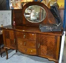 Vintage Queensland walnut sideboard,
