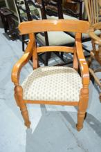 Country style timber framed open armchair,