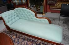 Antique cedar framed chaise lounge,