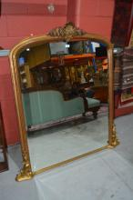 Victorian style overmantle mirror,