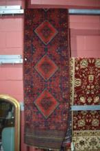 Persian Baluchi tribal runner, pure wool,