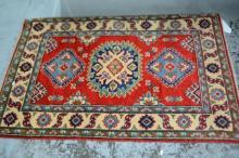 Afghan Kazak pure wool, hand made rug,