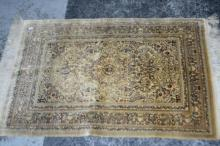 Turkish pure silk, hand knotted rug,