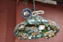 Good quality leadlight ceiling light fitting,