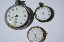 3 x watches incl. a Smith's pocket watch,