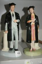 Royal Doulton 'The Graduate' figurines,