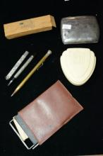 Collection of writing implements,