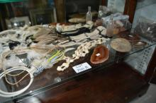 Shelf of tribal style necklaces,