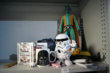 Collection of Star Wars items