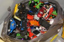 Collection of play worn die cast model cars