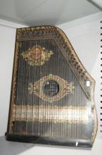 Vintage table harp / zither a/f