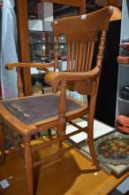 Queensland maple office chair,