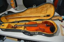 Takabe violin, missing one string,