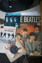 4 Beatles items to incl. 3 x 45's