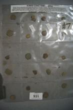 Collection of original Roman coins,