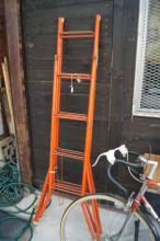 Pair of metal painter's trestles