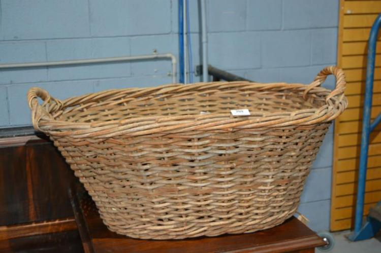 Vintage cane laundry hamper - Cane laundry hamper ...