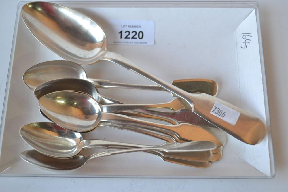 Collection of assorted Russian silver spoons,