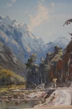 Aston Greathead (NZ), 'Mossey Creek, Haast Pass', oil on board, signed & dated 1969, 54 x 38cm