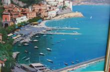 Antonio Iannicelli, 'The Amalfi Coast', oil on canvas, signed, also signed & titled verso with artists stamp, 60 x 72cm
