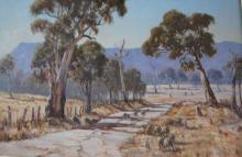 Allan Fizzell, 'Bush Track, Capertee', oil on canvas board, signed & dated 1977, 60 x 90cm