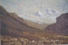 Gustave Pillig, Interlaken, Switzerland, oil on board, signed, 30 x 40cm, some AF to paint surface