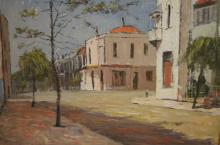 John Marrington, 'The Hungary Horse Restaurant Paddington', oil on canvas board, signed and also signed, titled & dated July 1968 verso, 50 x 60cm