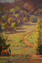 Edith Williams, 'Bellingen Valley', oil on canvas on board, signed, 60 x 50cm, Royal Arts Society Exhibiting member label verso