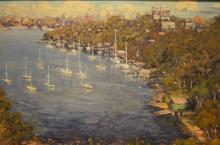Geoff Buckle, 'Shell Cove - Cremorne, Sydney Harbour', oil on canvas board, signed & dated 2002, 34 x 44.5cm