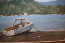 Ronald Lawrence, 'Lakeside' oil on canvas board, signed, 44 x 59cm