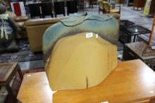 Pottery vase by Ball Ceramic Design Studio in blues & browns, 43cm T