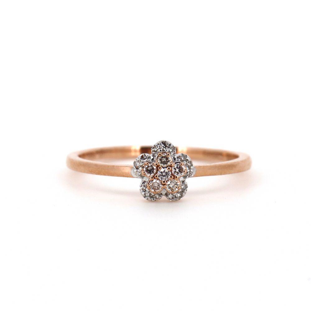 14K Rose Gold, Argyle Pink Diamond, Flower Ring