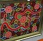 Mingi May Barns, Aboriginal dot painting, acrylic